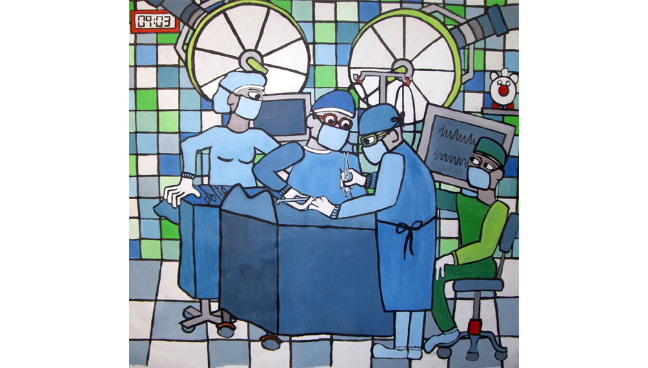 Dr Prins - 150 X 150 cm - acrylic on canvas
